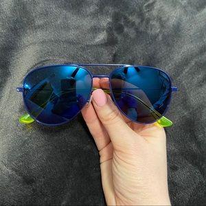 Saint Laurent Blue Aviator Sunglasses